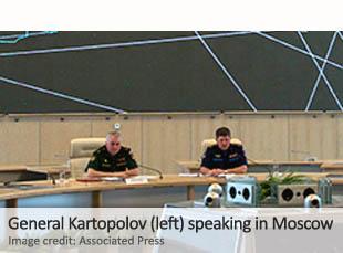 General Kartopolov (left) speaking in Moscow