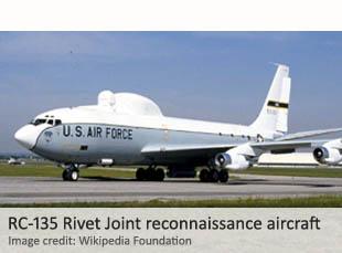RC-135 Rivet Joint reconnaissance aircraft