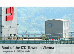 Roof of the IZD Tower in Vienna