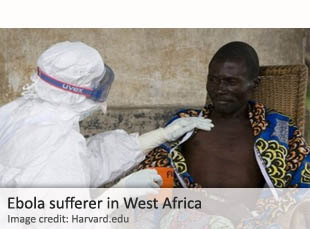 Ebola sufferer