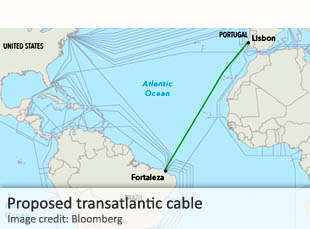 Proposed transatlantic cable