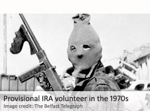 Provisional IRA volunteer in the 1970s