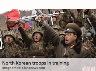 North Korean troops in training