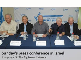 Sunday's press conference in Israel