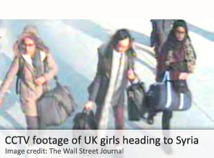CCTV footage of UK girls heading to Syria