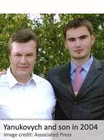Viktor Yanukovych and son
