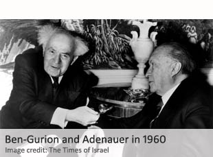 Ben-Gurion and Adenauer in 1960