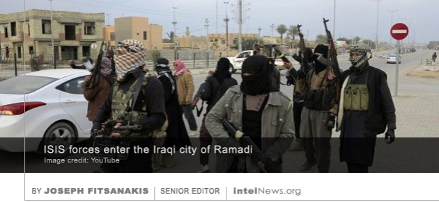 ISIS forces in Ramadi