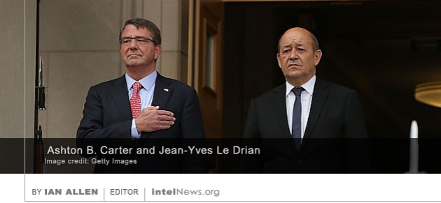 Ashton B. Carter and  Jean-Yves Le Drian
