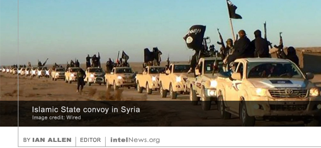Islamic State convoy in Syria