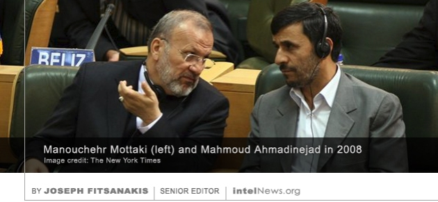 Manouchehr Mottaki and Mahmoud Ahmadinejad