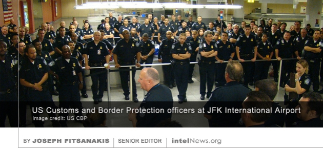 US Customs and Border Protection officers at JFK International Airport