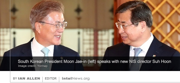 Moon Jae-in and Suh Hoon in South Korea