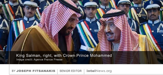 King Salman with Crown Prince Mohammed