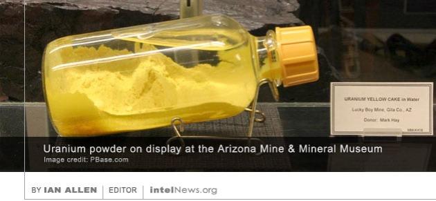 Uranium yellow cake